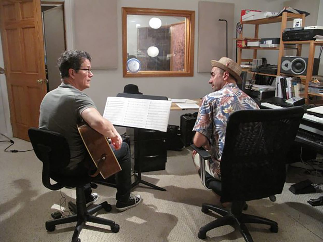 Jon Herrington and Rob Morsbger in Rob's Studio